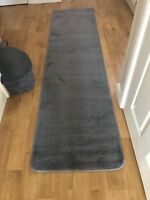 CARPET HALLWAY OR STAIR RUNNERS 2 FOOT WIDE GREY GLITTER