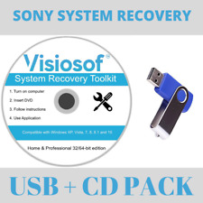 System Recovery Boot USB DVD Repair Restore your operating system in minutes