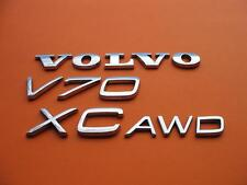 01-07 VOLVO V70 XC V70XC XCV70 AWD REAR CHROME EMBLEM LOGO BADGE SIGN OEM SET #3
