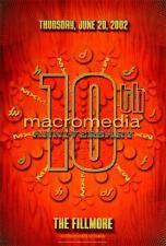 Macromedia Poster 10th Anniversary Fillmore Bgse29 Rex Ray