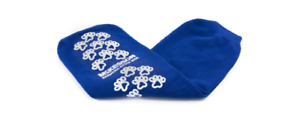 Mck Terries Bariatric EXTRA WIDE Royal Blue Above the Ankle Slipper Socks