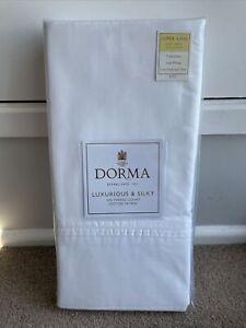 Dorma Superking Size Flat Sheet 500 Thread Count Cotton Sateen White New BNWT