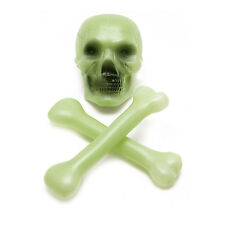 Haunted House Deocoration Large Glow in the Dark Skull and Crossbones Bones Set