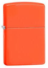 Zippo 28888, Neon Orange Finish Lighter, **6 Extra Flints & Wick**