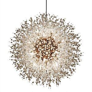 Crystal Chandelier 16- Light Vintage Pendant Light Gold Chandelier Modern Light