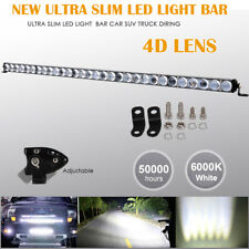 42 inch 4D Lens Single Row LED Work Light Bar Driving Offroad Car Truck Boat 44""