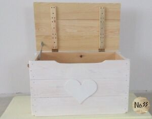 Handmade Wooden White Chest/ Trunk/ Toy Box/ coffee table/ blanket box/ storage