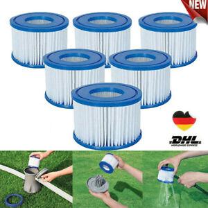 Ersetzen Filterkartuschen Spa Filterkartusche 6 Stück für Whirlpools Kartuschen