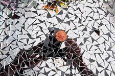 100 pcs Mosaic Silver Mirror Tiles Triangular approx 1 X 1 X 1.5 cm, 2 mm thick
