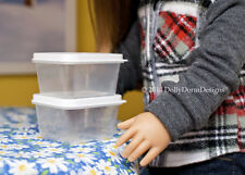 Rectangle FOOD STORAGE CONTAINER for American Girl Doll House Kitchen Bake Pet
