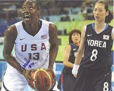 Sylvia Fowles Signed 8x10 Photo Usa Basketball Olympics Wnba Free Shipping Lynx