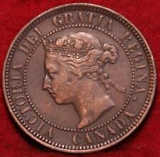 1886 Canada One Cent Foreign Coin