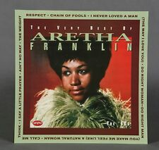Aretha Franklin VERY BEST OF RARE 2-SIDED PROMOTIONAL Poster Flat 12X12
