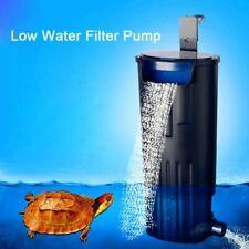 Aquarium Turtle Low Water Filter Pump Tank Hanging Waterfall Water Circulation