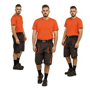 MONTER__Combat SHORTS MEN WORK__Half Elastic Waist__Workwear Multipocket Cotton