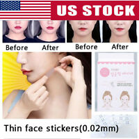 40Pcs V Shape Face Lift Up Fast Work Maker Chin Adhesive Tape Face Tool Gift