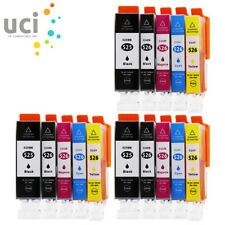 15 Ink Cartridges For Canon Pixma MG5150 MG5250 MG5350 MG6150 MG8250 MX715