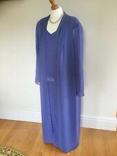 SIMON ELLIS size 18 - full length sequined sleeveless dress and chiffon coat