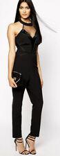 LIPSY KARDASHIAN KOLLECTION Black Halter Trouser Jumpsuit Size 12 NEW WITH TAGS