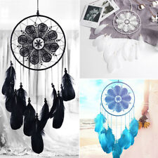 24inch Handmade Dream Catcher With Feathers Car Wall Hanging Decor Ornament Gift