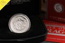 Australien Lunar II Drache Dragon High Relief 1 Unze oz Silber 2012 PP