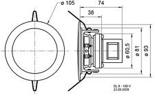 VISATON DL 8 100 Volt Deckenlautsprecher Weißübertrager