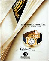 1993 Diabolo Louis Cartier Watch Treiber & Straub Milwaukee retro print ad ads1