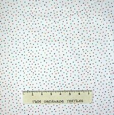 FLANNEL Fabric - Hellow Snow Tiny Polka Dots on White - Henry Glass YARD