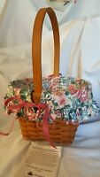 Longaberger 1993 MOTHERS DAY Basket 12904 Fabric Floral Liner Protector