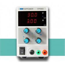 30V 3A 110V/220V Adjustable DC Regulated Power Supply Variable Digital Lab Grade