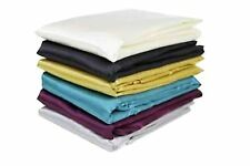 PAIR OF SHINY SILKY SATIN PILLOWCASES BROWN GREY NAVY BLUE PINK PURPLE RED CREAM