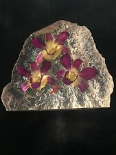 La Belle Collection For Gardens By The Bay Ice Berg Orchids Paperweight