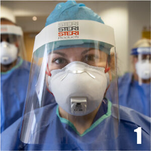 10x Full Face Covering Visor Mask Shield Protection Reusable Splash Guard Safety
