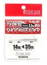 Sunline Saltwater Fly Leader Taper Shock Leader 3.5m 14lb Tippet NEW