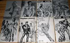 Physique Pictorial Magazine Lot Set (63 reg Issues 1954-1991) Excellent