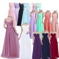 Women Formal Long Chiffon Prom Ball Evening Party Bridesmaid Wedding Maxi Dress