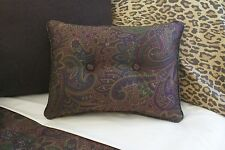 NEW Custom Ralph Lauren New Bohemian Accent Pillow 2 Button Paisley
