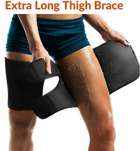 Thigh Brace Hamstring Wrap Compression Sleeve Thigh Timmer Quadriceps Support