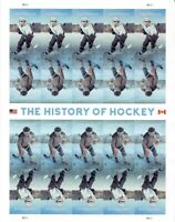 """The History of Ice Hockey"""" sheet of 20 forever stamps (self adhesive) MNH"""