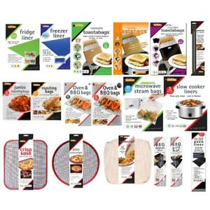 Toastie Bags, Micro Steam Bags, Oven Liner Slow Cooker Liner Toastabags All Type