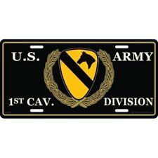 "United States U.S. Army 1st Cavalry Cav. 6""x12"" Aluminum License Plate Tag"