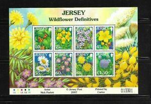 Jersey 2005 Wild Flowers min sheet MNH (C)