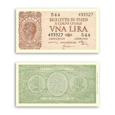 RIPRODUZIONE 1 LIRA ITALIA LAUREATA DECRETO 23 NOVEMBRE 1944 BANCONOTE ITALY