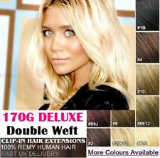 Thick 170G Double Weft Clip In Remy Human Hair Extensions Full Head Like Russian