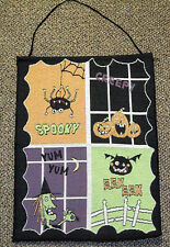 Spooky Smiles Halloween Ghosts Pumpkins Witch Tapestry Bannerette Wall Hanging