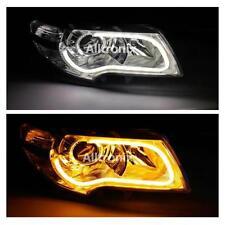 Nissan - 2 x Flexible DRL Light Bars 6000k Daytime Running Lights with Indicator
