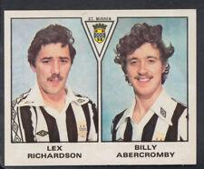 Panini 1980 Football Sticker No 580 - Richardson / Abercromby - St Mirren (S443)