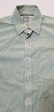 Ruehl No. 925 New York Mens Large Striped Long Sleeve Shirt Green