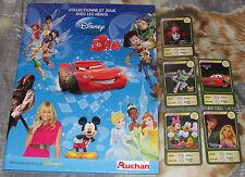 Auchan Disney set complet 185 cartes dans album officiel neuf