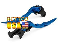 Blue Blade Brake Clutch Levers For Suzuki GSXR600 1997-2003 GSXR1000 2001-2004